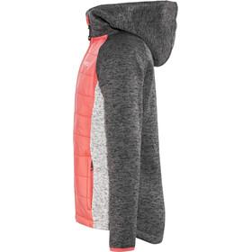 Meru Prag Knitted Fleece & Padded Jacket Kids, carbon/pink